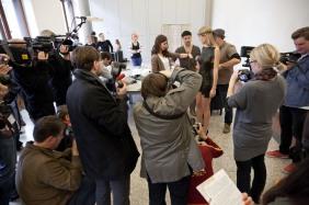 Fashion Food Berlin, Pressekonferenz, Museum für Kommunikation Berlin, 2011 10 28, MakingOf;